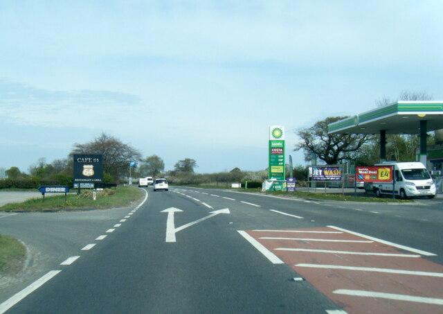 A64 service station near Harton
