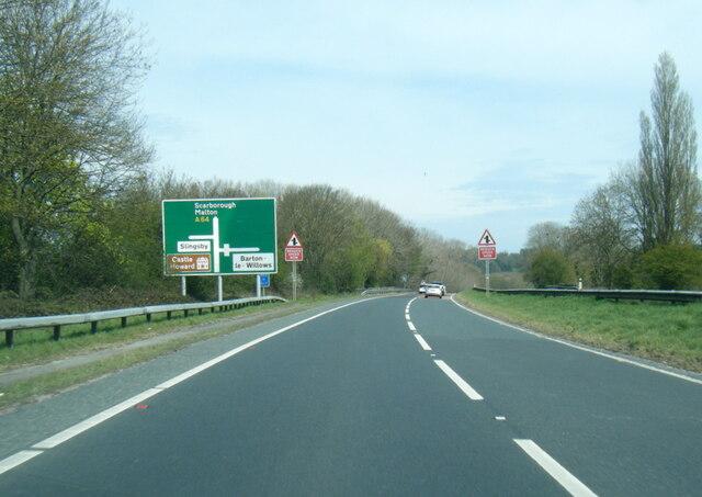 A64 at Barton Hill