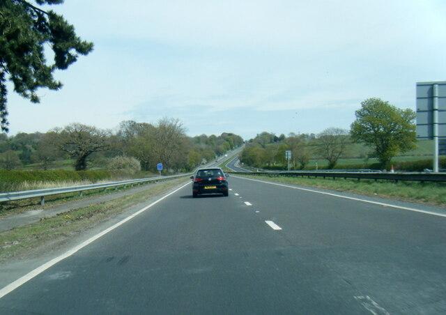 A64 eastbound near Barton Hill