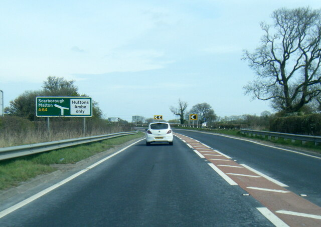 A64 near Stegg Flat Wood