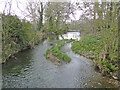 TM2481 : The sluice at Weybread water mill site by Adrian S Pye