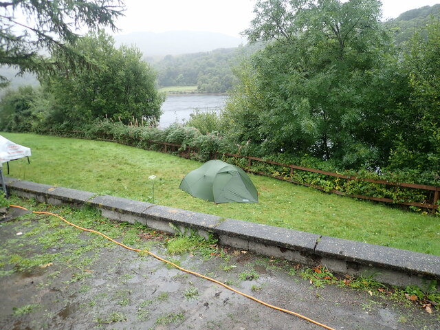 Wee tent at Linnhe Lochside Holiday park