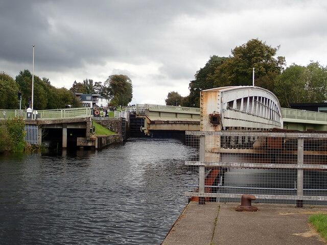 Swing bridges at Banavie