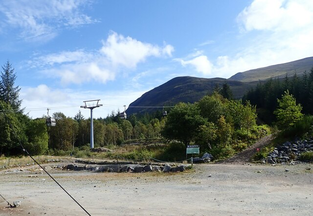 Cable cars at Nevis Range