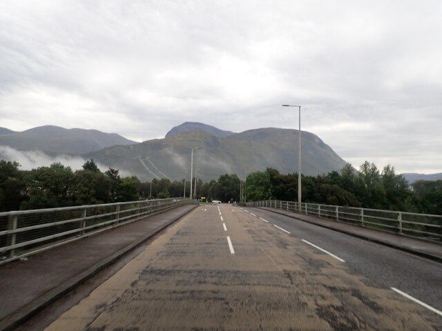 Crossing the River Lochy on the A830