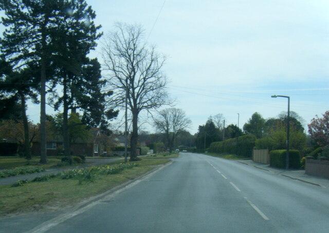 Welham Road at Hunters Way