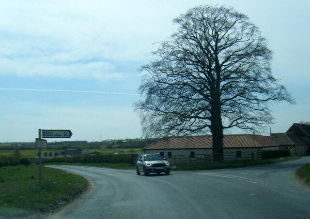 Ruffin Lane junction in Eddlethorpe