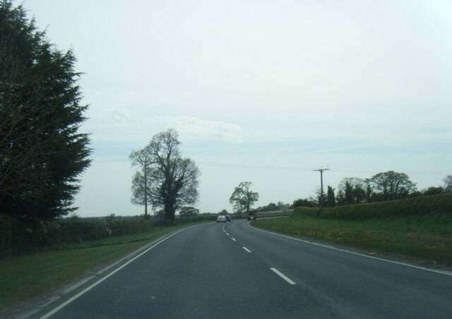 A166 near Manorford House