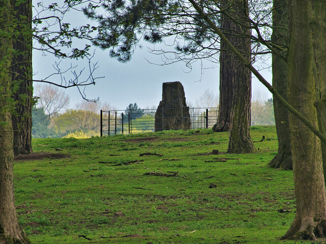 A View of the Airborne Forces Memorial through Saddleback Wood