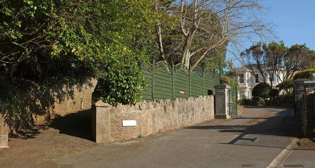 Wellswood Path leaves driveway