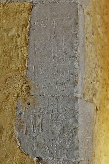Mickfield, St. Andrew's Church: Medieval graffiti 2