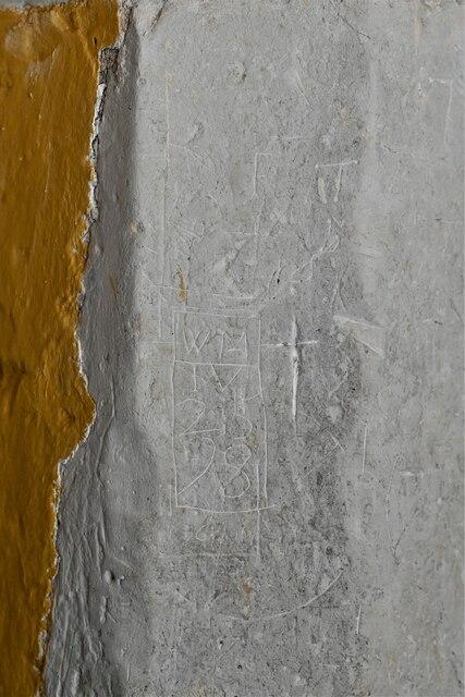 Mickfield, St. Andrew's Church: Medieval graffiti 3