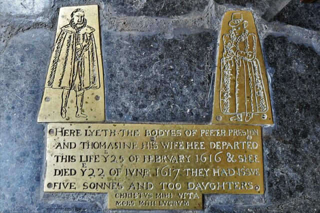 Mickfield, St. Andrew's Church: Modern reproduction of a floor brass that was sadly stolen