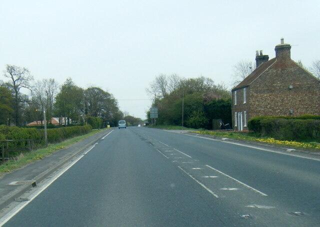 A1079 Hull Road near Scoresby Lodge