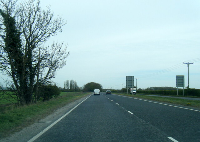 A1079 Cross Hill south of Hayton