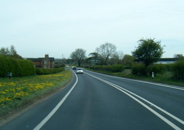 A1079 eastbound at Bar Farm
