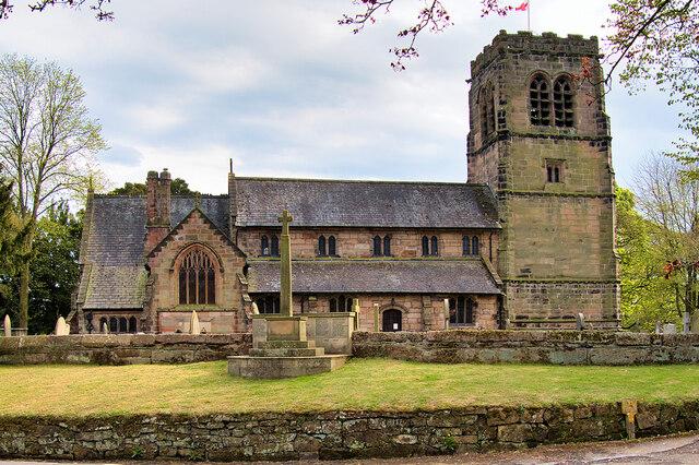 War Memorial and Parish Church, Mobberley