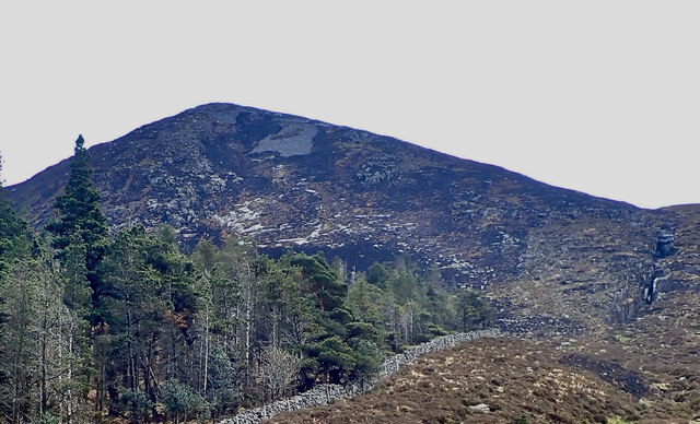 The NNW side of the fire ravaged Thomas's Mountain