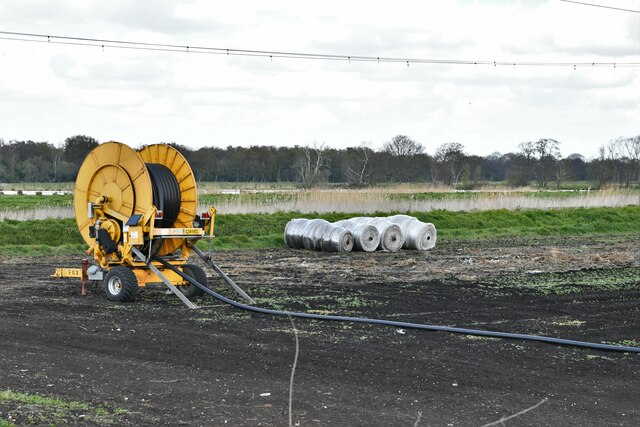 Southery: Watering parched crops