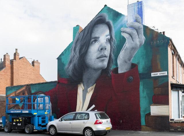 Isaac Newton Mural, Kirkby Street, Lincoln