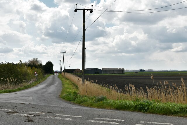 Feltwell: Where Black Drove leaves Southery Road