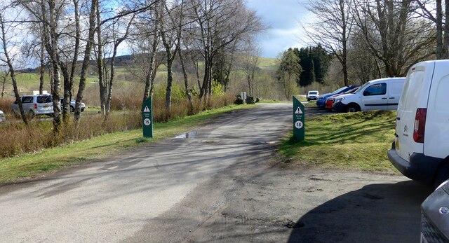 The Carron Valley Reservoir car park
