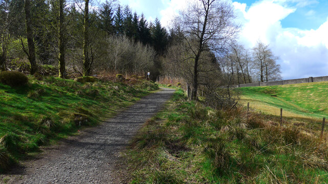 Path at the Carron Valley Reservoir
