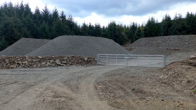 New road-metal dump in the Carron Valley Forest