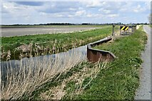TL6087 : Little Ouse, White House Road: Bridge over a drainage channel by Michael Garlick