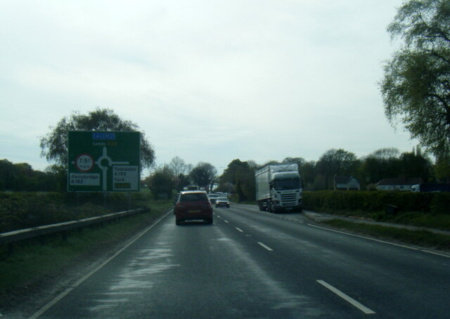 A63 nearing Battersby Roundabout