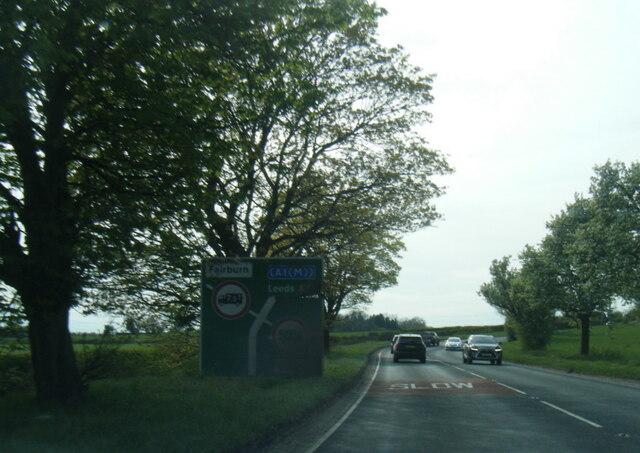 A63 nearing Rawfield Lane junction