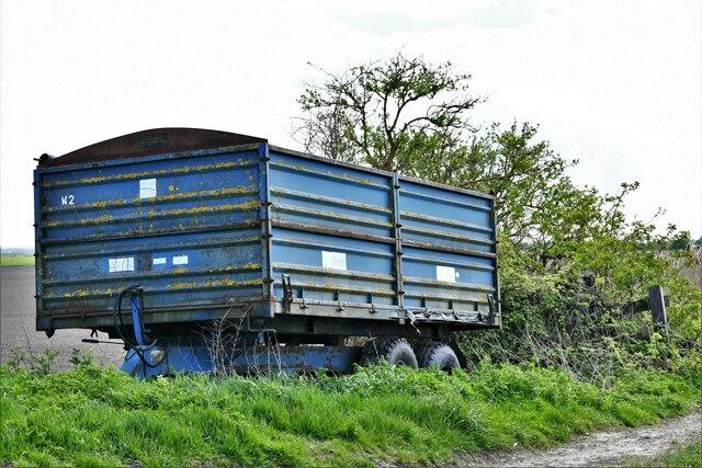 Littleport,  Hale Drove: Farm trailer