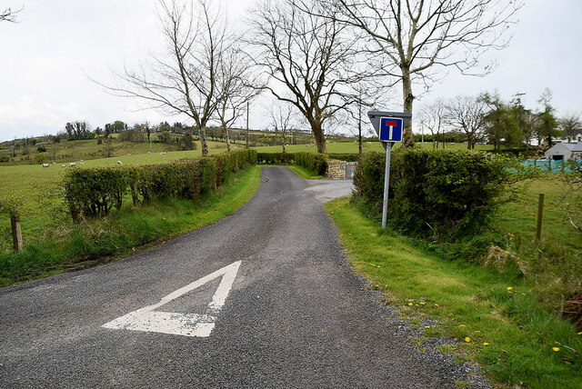 Dead end road, Ballykeel by Kenneth  Allen