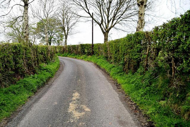 A bend along Ballykeel Road