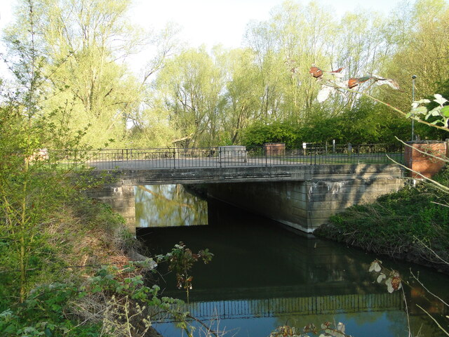 The Old Scole Bridge by Adrian S Pye
