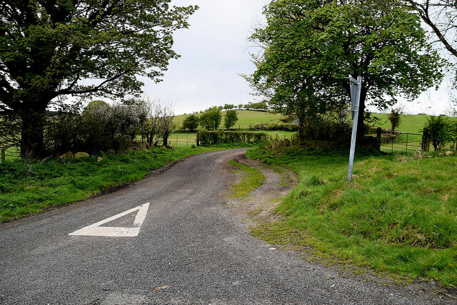 Road junction, Ballykeel