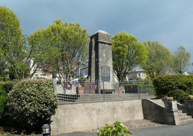 Ventnor War Memorial, early May 2021