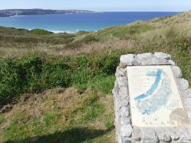 An information panel for Hayle - Gwithian Towans