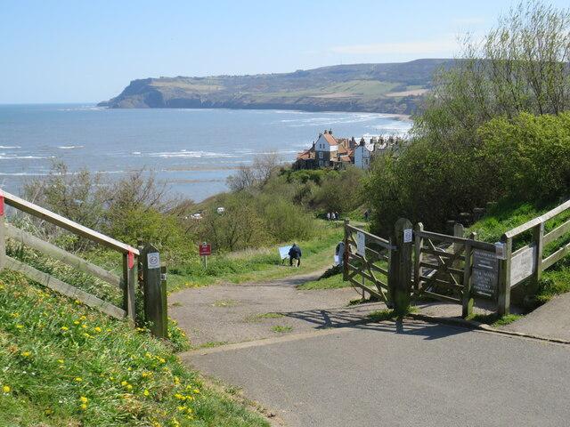 Path to the sea, Robin Hood's Bay