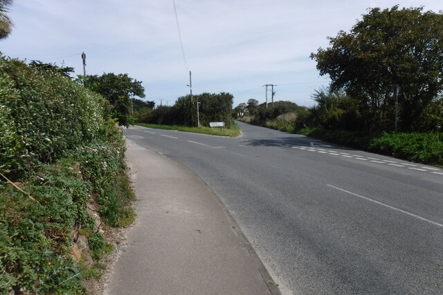 Junction with the minor road to Camborne