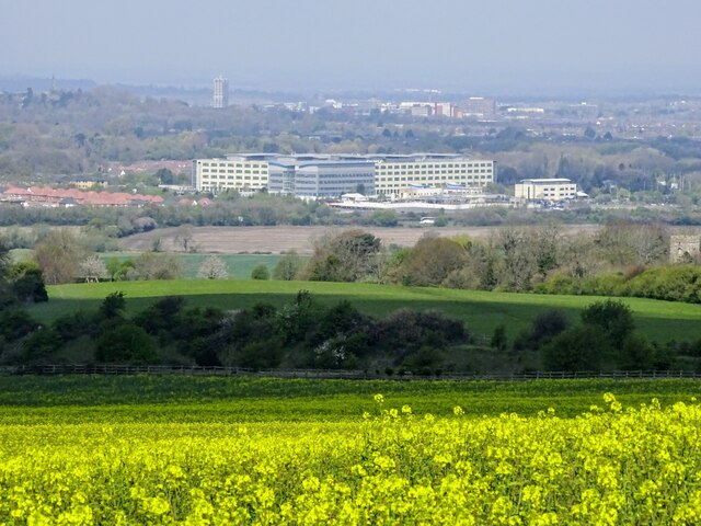 View north-west from the Ridgeway, Liddington