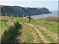 NZ9408 : Cleveland Way, near Hawsker by Malc McDonald