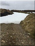 NH7821 : Tough deep patch of remaining snow on track to Carn Dubh Ic An Deoir by thejackrustles