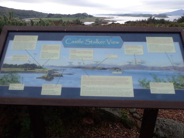 Information board, Castle Stalker View