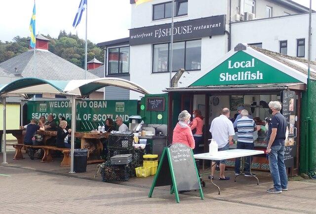 Seaside restaurant at Oban