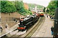 SJ2142 : Double-headed departure from Llangollen Station by Martin Tester