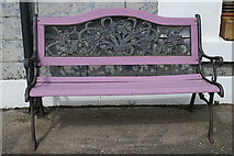 NJ4668 : Painted Bench by Anne Burgess