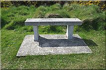 NJ4567 : Memorial Bench by Anne Burgess
