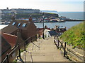 NZ9011 : Steps to Whitby Abbey by Malc McDonald