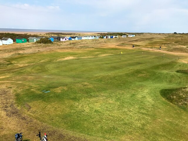 The 18th hole at Hunstanton Golf Club in Norfolk